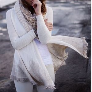Moth | Anthro Open Sweater Cardigan Fringe